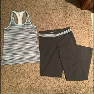 Workout leggings and tank top